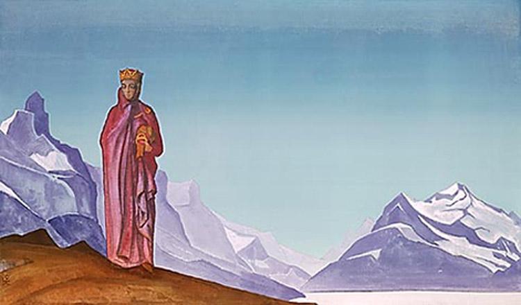 Н.К.Рерих. Камень несущая (Держательница Мира). 1933